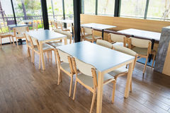 Tables And Chair In Empty Cafe Royalty Free Stock Images