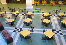 Empty food court Stock Photo