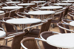 Tables and chairs Royalty Free Stock Photo