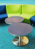 Tables and chairs. Colorful tables and chairs in vancouver airport waiting area Stock Photography