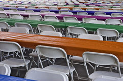 Tables and Chairs at an Angle Royalty Free Stock Images