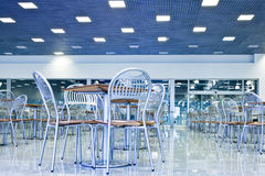 Tables and chairs in cafe Stock Image
