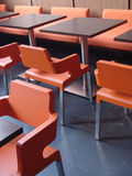 Tables and chairs in cafe Royalty Free Stock Image
