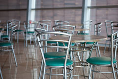 Tables and chairs in a cafe Stock Image