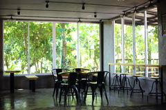 Tables and chairs in cafe Royalty Free Stock Photography