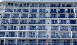 Tables and Chairs on Cruise Ship Balconies. Identical Tables and Chairs on Cruise Ship Balconies stock images
