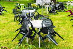 Tables chairs royalty free stock image