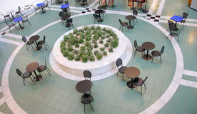 Empty food court in shopping mall Stock Image