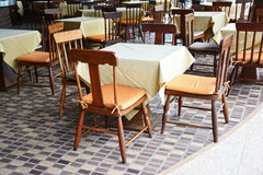 Tables and chairs in the hotel. Royalty Free Stock Images