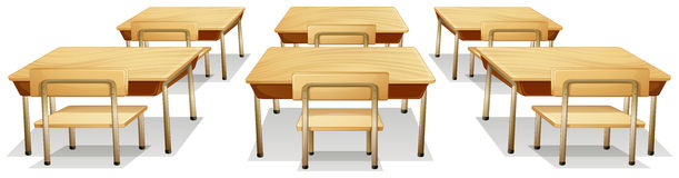 Tables and chairs. Illustration of tables and chairs Stock Image