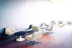 Tables and chairs inside Revel Hotel Casino, Atlantic City, New Royalty Free Stock Images