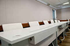 Tables and Chairs in Meeting Room Royalty Free Stock Photos
