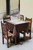 Tables and chairs outdoor Royalty Free Stock Photography