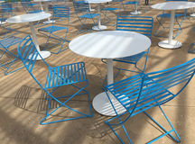 Tables and chairs outside Stock Images
