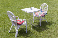 Tables Chairs Outside Stock Photos