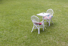 Tables Chairs Outside Stock Photo