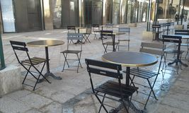 Tables and chairs Royalty Free Stock Image