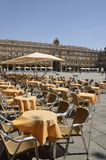 Tables and chairs in the PLaza Stock Images