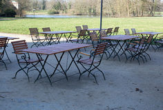 Tables and chairs Stock Image