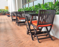 Tables and chairs in the restaurant. Royalty Free Stock Photography