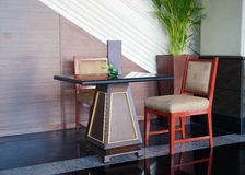Tables and chairs in the restaurant. Royalty Free Stock Images