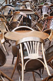 Tables and chairs in the restaurant Stock Photography