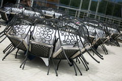 Tables and chairs in restaurant Royalty Free Stock Photo