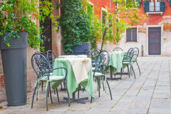 Tables and chairs Royalty Free Stock Photos