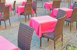 Tables and chairs Stock Photography