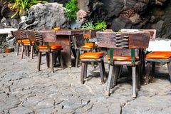 Tables and chairs Royalty Free Stock Images