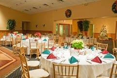Tables de banquet de vacances Image libre de droits