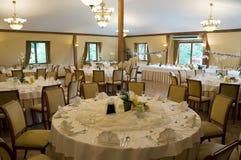 Tables de banquet rondes Image libre de droits