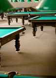 Tables de billard Photos stock