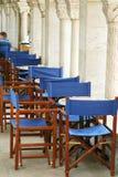 Tables de café en ha à colonnes Photos libres de droits