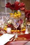Tables de mariage Photo stock