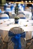 Tables de réception de mariage Images stock