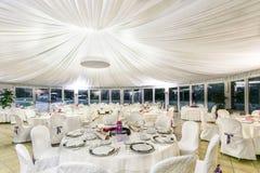 Tables de réception de mariage Photographie stock libre de droits