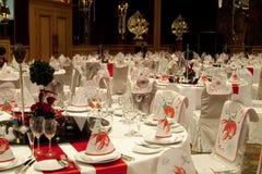 Tables de réception Image stock