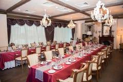 Tables de restaurant Images libres de droits