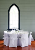 Tables Decorated At A Wedding Reception. Royalty Free Stock Images