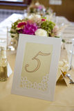 Tables decorated. For a party or wedding reception Stock Photos
