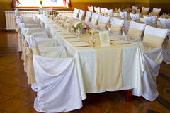 Tables decorated Stock Photos