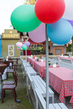 Tables decorated for a party Stock Image