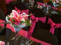 Tables decorated for a wedding Stock Image