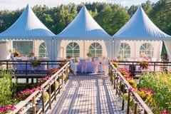 Tables for elegant wedding royalty free stock photo