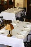 Tables extérieures de café Image stock