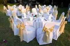 tables extérieures de réception Photos libres de droits