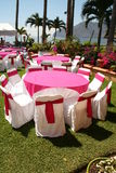 Tables fo wedding event Royalty Free Stock Photo
