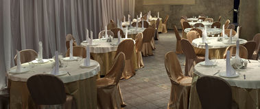 Tables formally set Stock Images