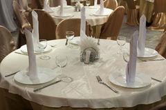 Tables formally set Royalty Free Stock Photo